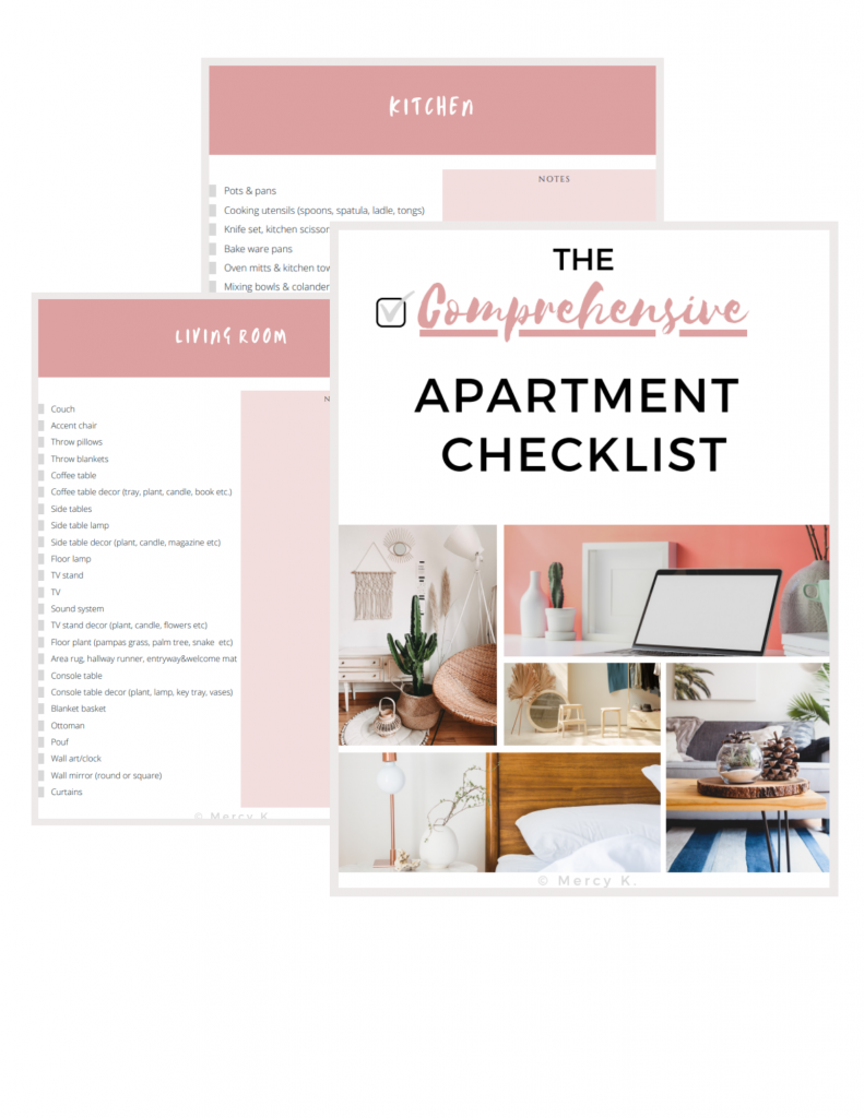 Free Apartment Moving Checklist
