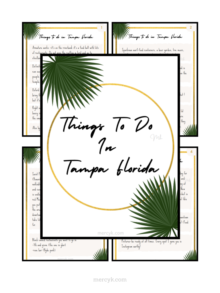 Things to do in Tampa Florida Checklist