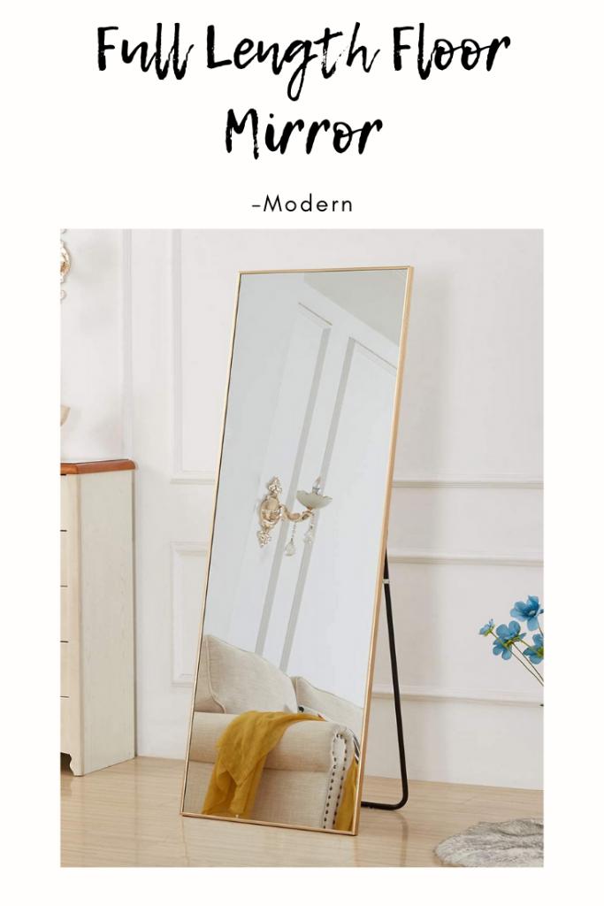 Modern apartment living room - Large Full Size Floor Mirror
